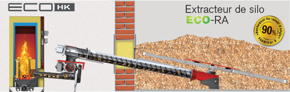 Extracteur EcoRA : Ø 1,5 à 5 m et seulement 180 W !