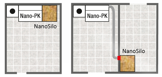 Implantation silo granulé NanoSilo