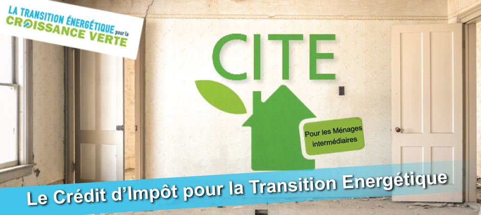 Le Crédit d'Impôt Transition Energétique vous permet de déduire de votre impôt sur le revenu une partie des dépenses engagées pour vos travaux d'amélioration de l'efficacité énergétique de votre logement.