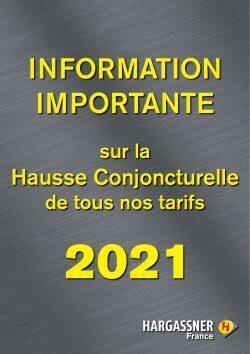 Hausse Conjoncturelle Tarifs 2021